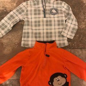 Carter's half zip sweatshirts